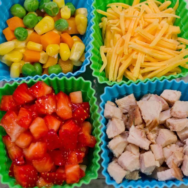 These meal ideas are actually for toddlers, but since the foods are all simple and healthy, I think I could make larger portions and serve them to Peter quite easily