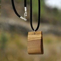 Gargantilla cuña madera de olivo