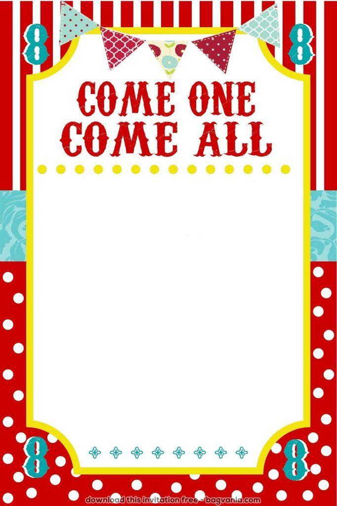 free carnival birthday invitations