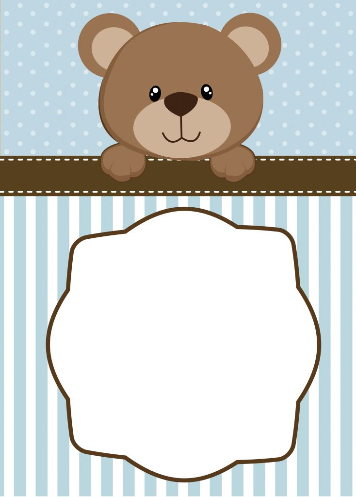 Neutral Teddy Bear Baby Shower Invitations | may | Baby ...
