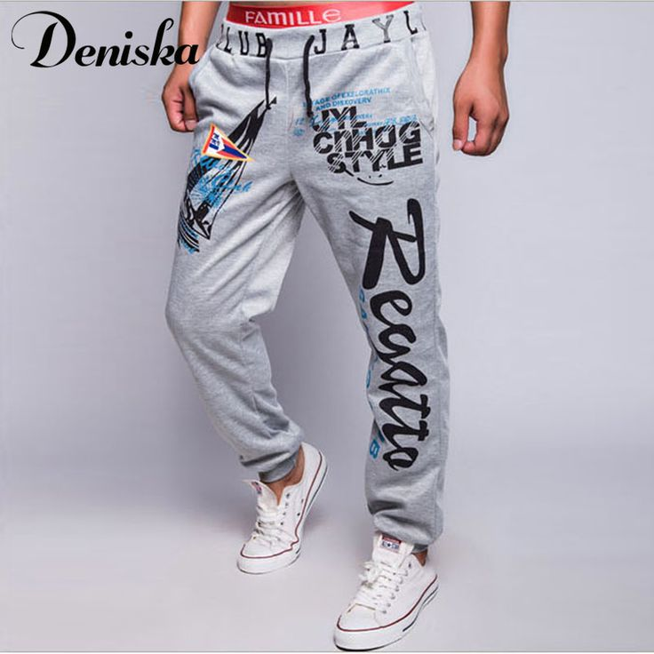 Fashion 2017 Spring summer men Letter Print  shark joggers male Trousers casual pants men's sportswear hip hop harem sweatpants