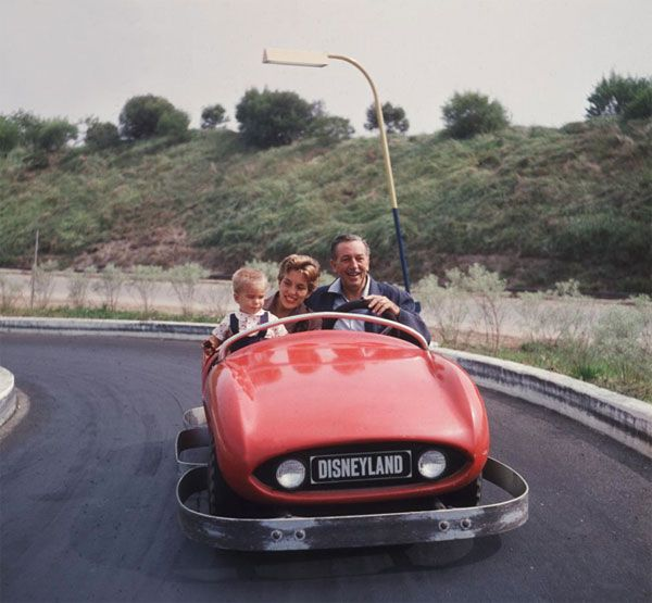 Walt, his daughter and grandson at Disnryland