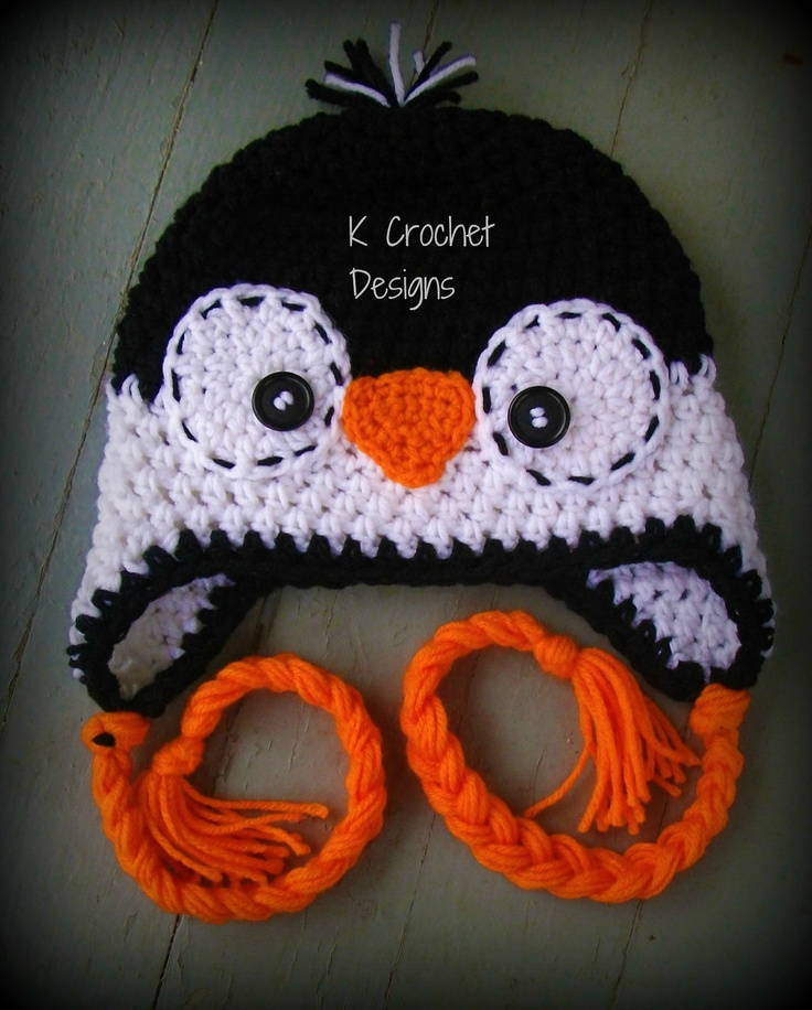 Crochet baby hat-Christmas hat-penguin hat-photography prop-baby-boys girls-unigender. $25.00, via Etsy.