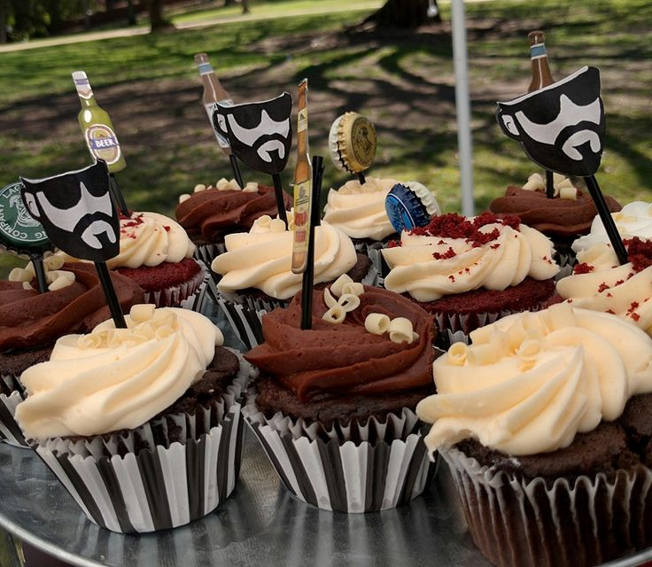 Beer party  Cupcackes Beard party Craft beer party
