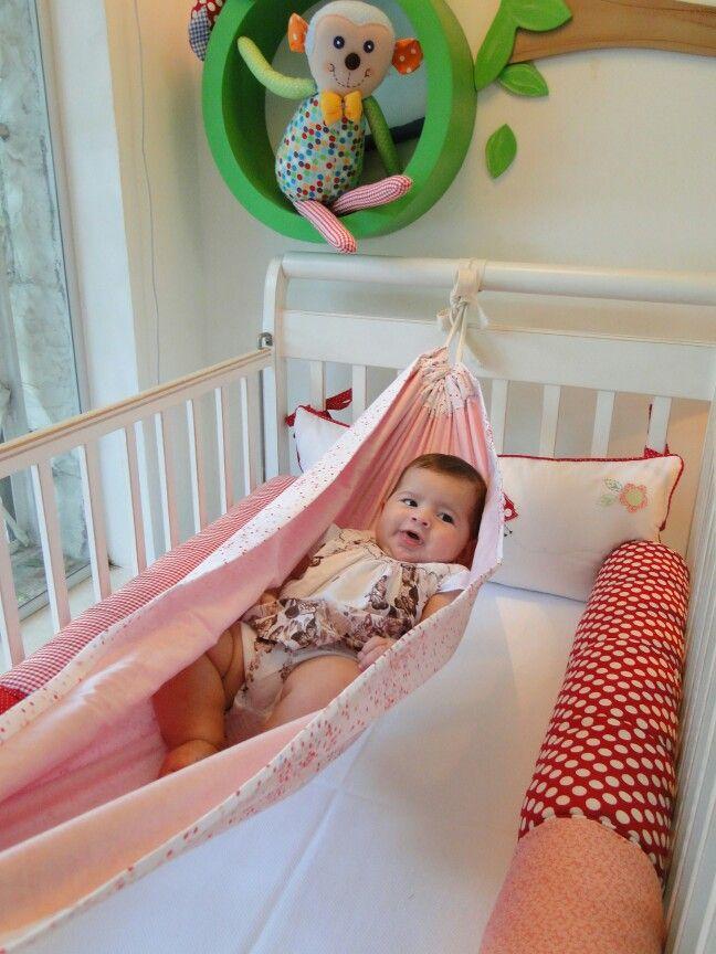 Rede para bebê, tranquilidade e conforto www.ateliecolorir.com.br