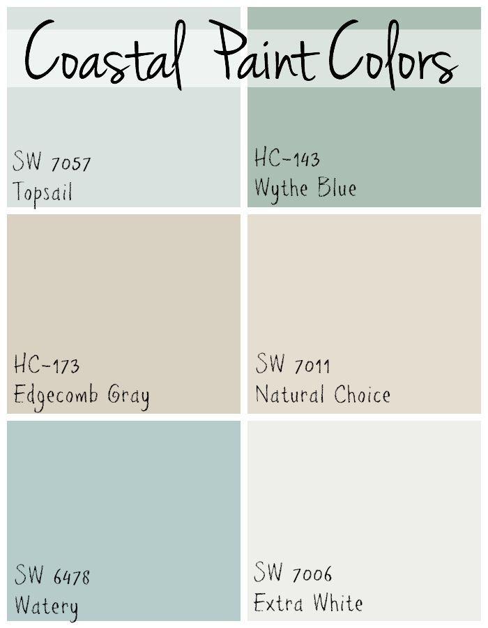 Coastal Paint Colors With Images Beach House Colors Coastal