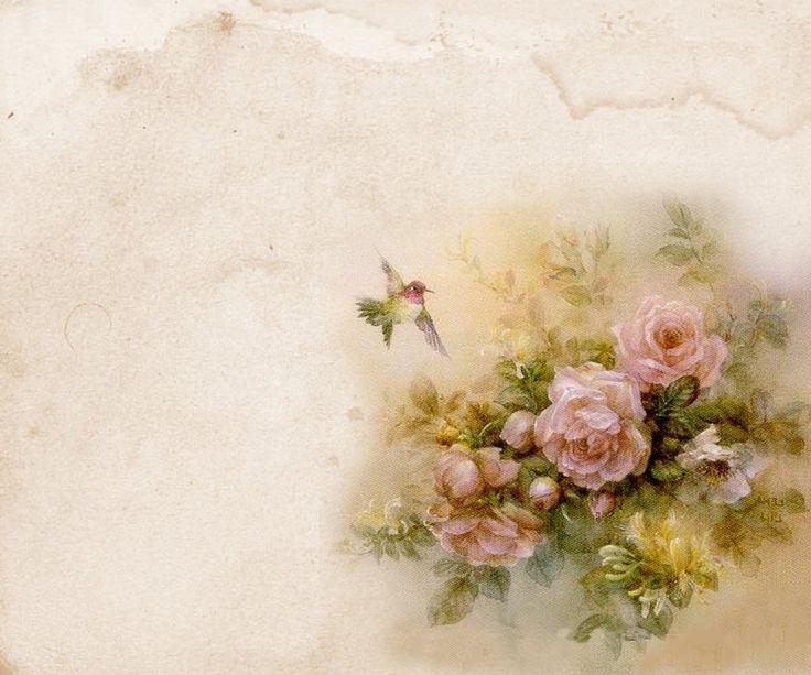Beautiful Bird and Rose printable