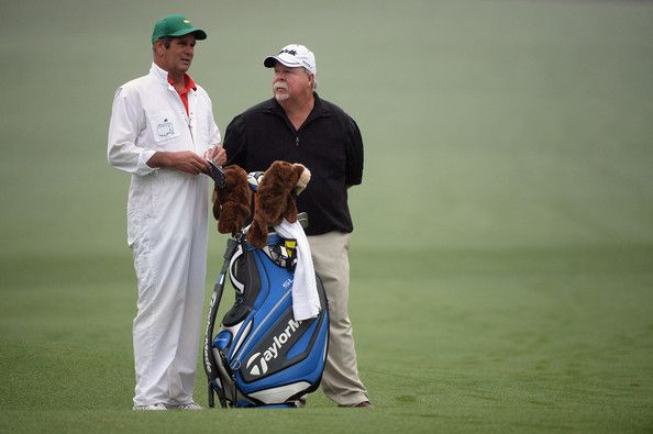 Craig Stadler Photos Photos - Craig Stadler of the United States talks with his caddie during a practice round prior to the start of the 2014 Masters Tournament at Augusta National Golf Club on April 7, 2014 in Augusta, Georgia. - The Masters: Previews