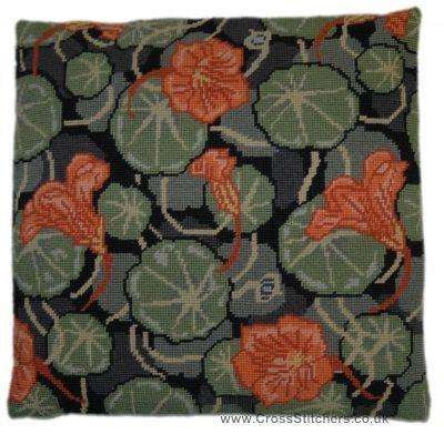 Cushion Tapestry Kit - Nasturtium, Cleopatra's Needle.