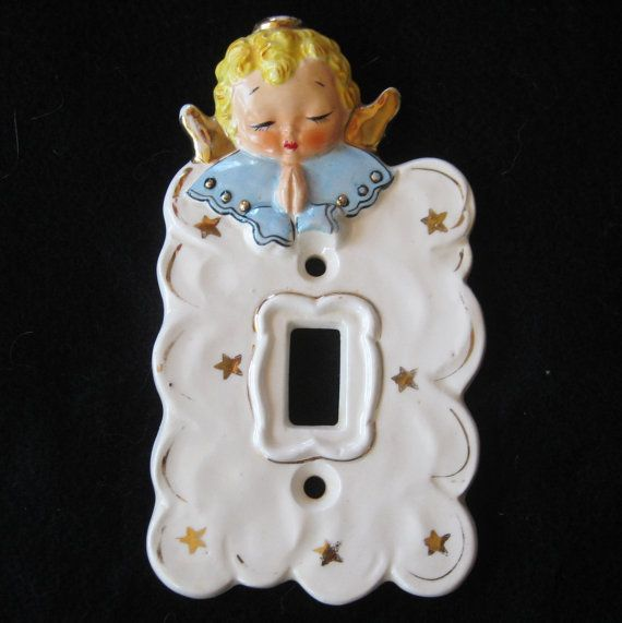 Vintage 50s 60s Novelty Angel Baby Room Nursery Light ...