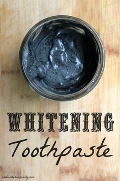 Want whiter teeth without chemicals? Try this all-natural whitening toothpaste you can make at home!!! Whitening Toothpaste Recipe | areturntosimplicity.com