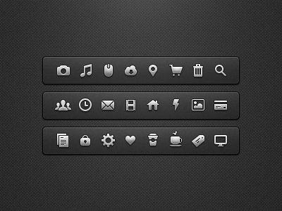 Crispy icon setDesign Inspiration, Ui Design, Web Inspiration, Web Design Icons, Design Lif