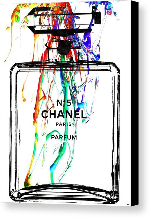 Chanel No. 5 White Canvas Print by Daniel Janda. All canvas prints are professionally printed, assembled, and shipped within 3 - 4 business days and delivered ready-to-hang on your wall. Choose from multiple print sizes, border colors, and canvas materials.