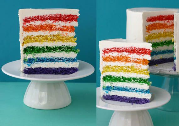 Rainbow Cake - I'll be attempting to make this myself, alongside some rainbow cupcakes.
