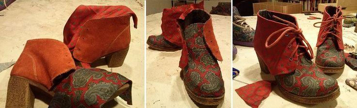 botines forrados con corbatas antiguas
