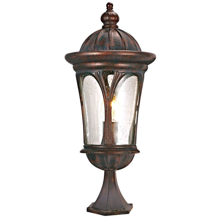 Searchlight 5193BR Canada Weathered Brown IP44 Outdoor Post Lamp