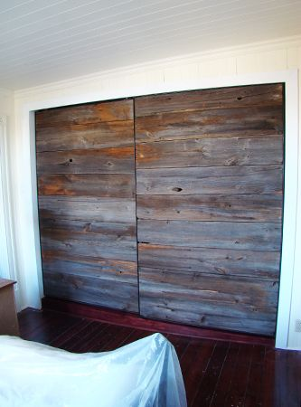 old barn wood, new closet  (i love these guys for reuse of materials and simplicity)