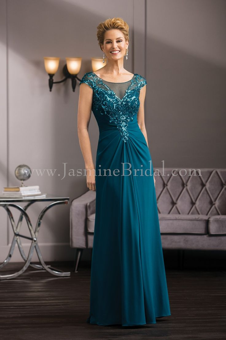 Jasmine Bridal Jade Couture Style K188060 In Teal Fall