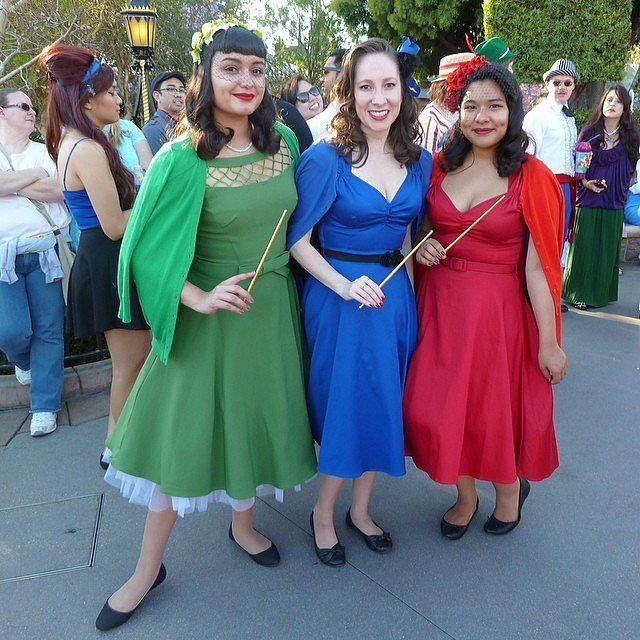 DIY Disney Costumes For Adults - Flora, Fauna, and Merryweather From Sleeping Beauty