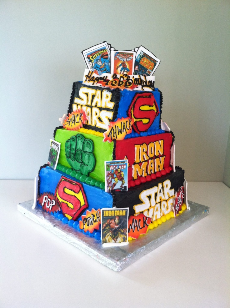 birthday cake ideas for men best birthday cake best guy superhero cake ...