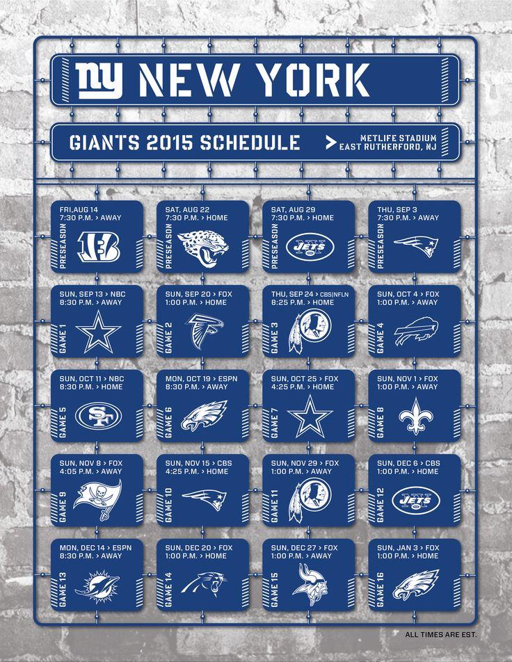 New York Giants 2015 Schedule