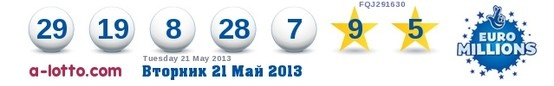 Tuesday 21st Euro millions Results. Friday's draw is an estimated £72M