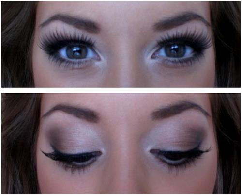 Gorgeous Natural Smokey Eyes. Wedding Make-up.