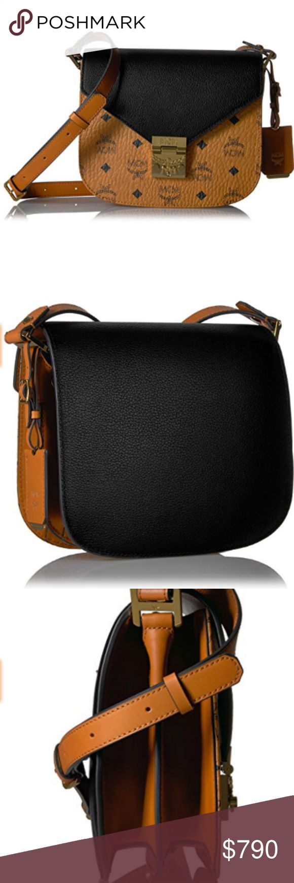 """NWT AUTHENTIC MCM Shoulder Bag VERIFIED BY POSHMARK FOR AUTHENTICITY. BUY WITH CONFIDENCE      man made lining     push lock closure     24"""" shoulder drop     7.5"""" high     8.25"""" wide     pockets: 3 slip, 1 zip  RETAIL MSRP: $960 OUR PRICE: $790 (Save $$$ on TAX).  SHIPPING: Please allow 2-3 Business days. Thanks for shopping @ my Closet. MCM Bags Shoulder Bags"""