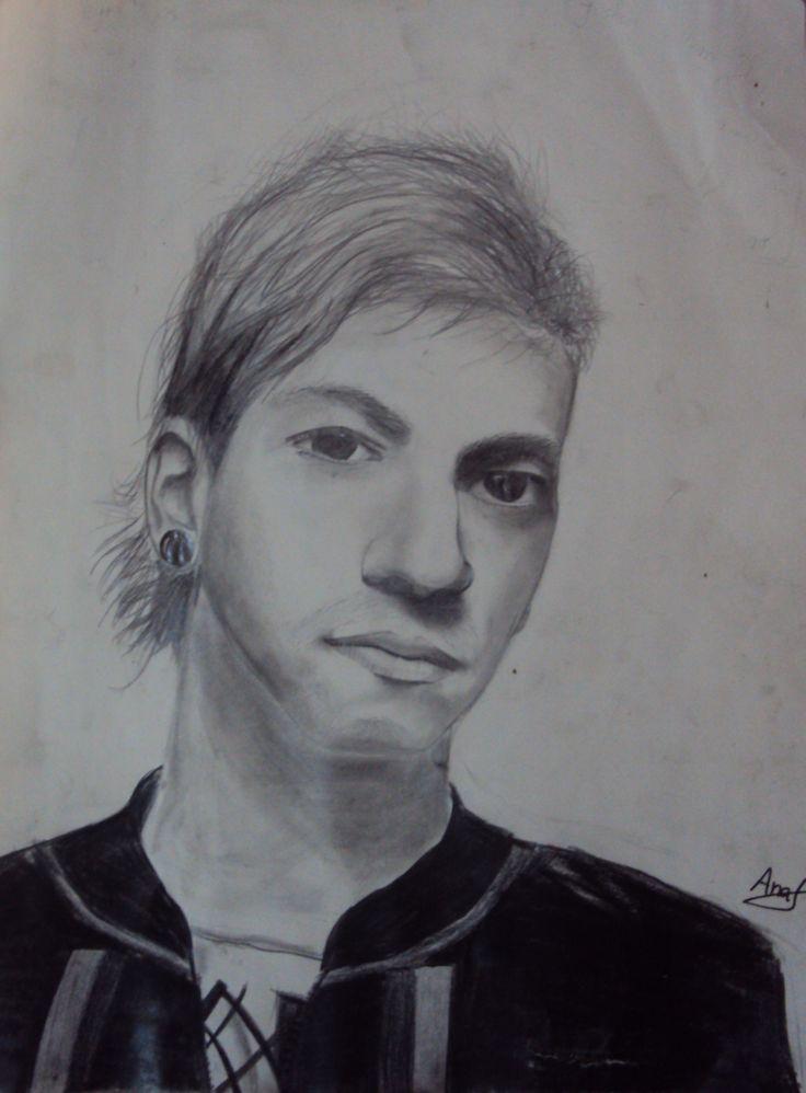 So I tried to draw Josh Dun,  drummer from twenty one pilots.