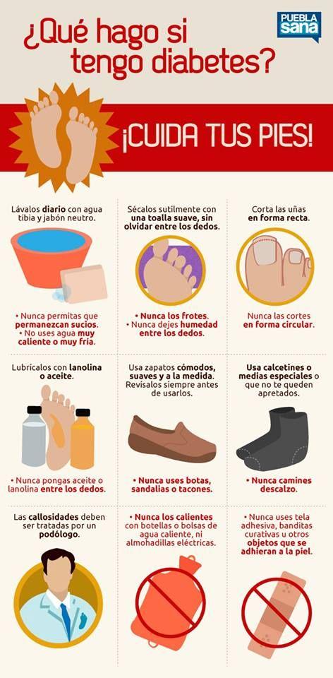 Si padeces de Diabetes ¡cuida tus pies!