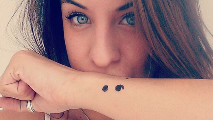 Semi-colon tattoo - what does it mean?