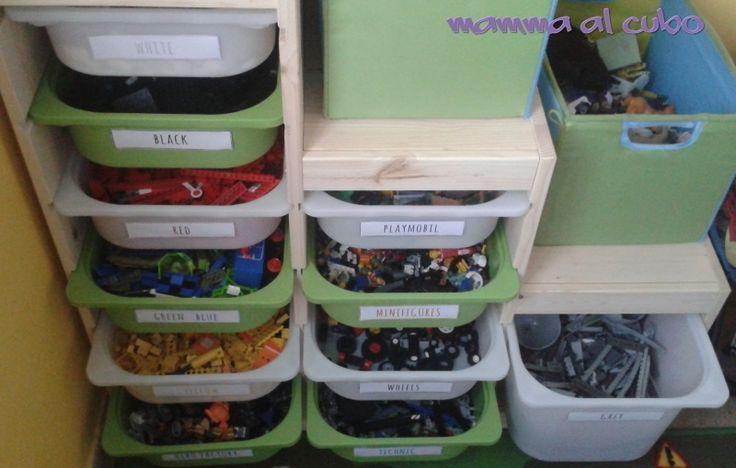 #organizzazione #Lego in #cameretta