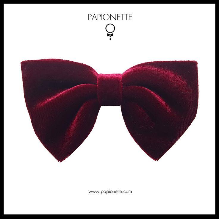 Papion visiniu de catifea - Papionette