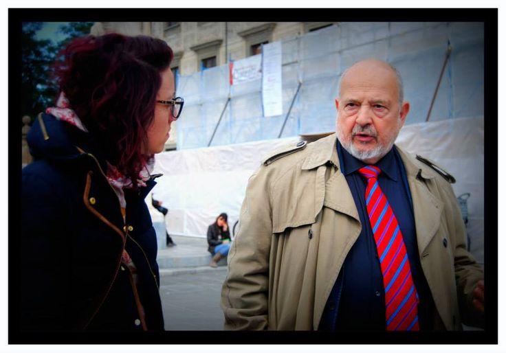 Alice durante l'intervista a Franco Cardini.