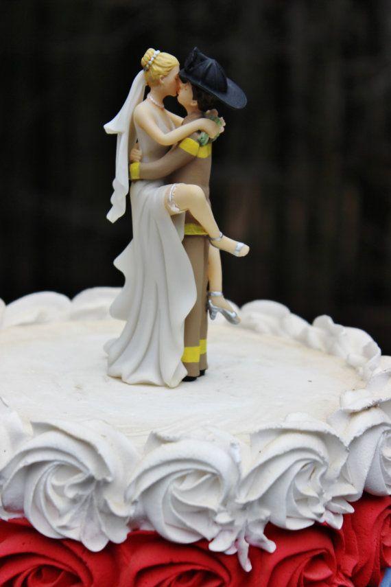 Fireman Firefighter Helmet wedding cake topper by CarolinaCarla