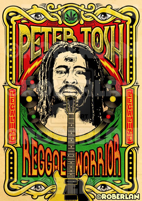 Peter Tosh Reggae Warrior by ~roberlan on deviantART