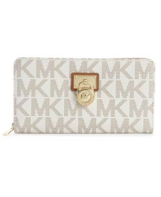 [For my new purse] MICHAEL Michael Kors Handbag, Hamilton Signature Zip Around Wallet - Handbags & Accessories - Macy's