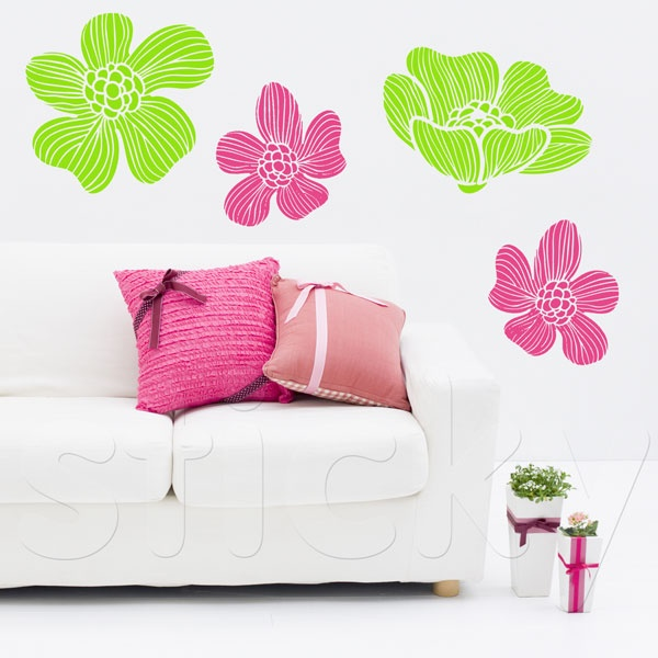 Wall Sticker DELICATE FLOWERS by Sticky!!!