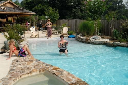 beach entry fiberglass pools | between a designer pool and a regular pool is that your pool ...
