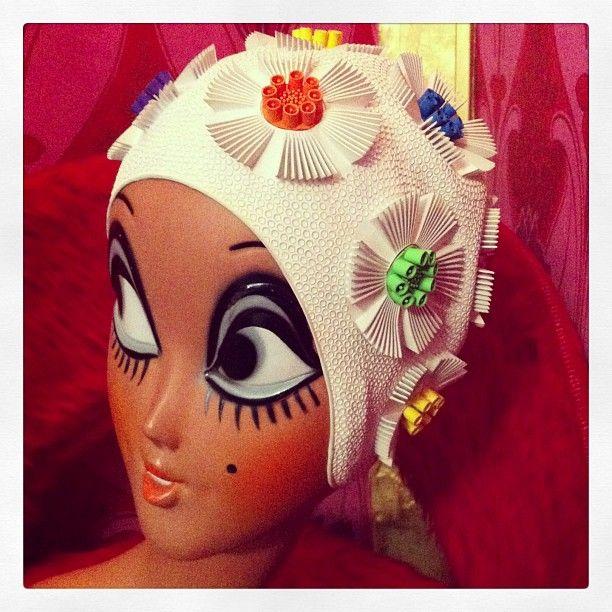 Goldymama Vintage 14 Rue Du Surmelin 7520 Paris Bonnet De Bain Retro
