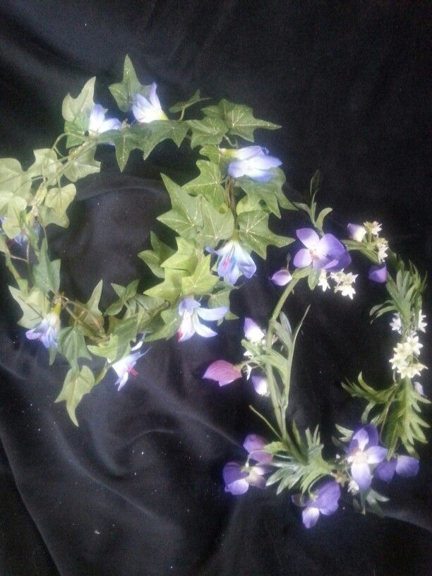 Floral Fairy wreaths in blue tones.   $12