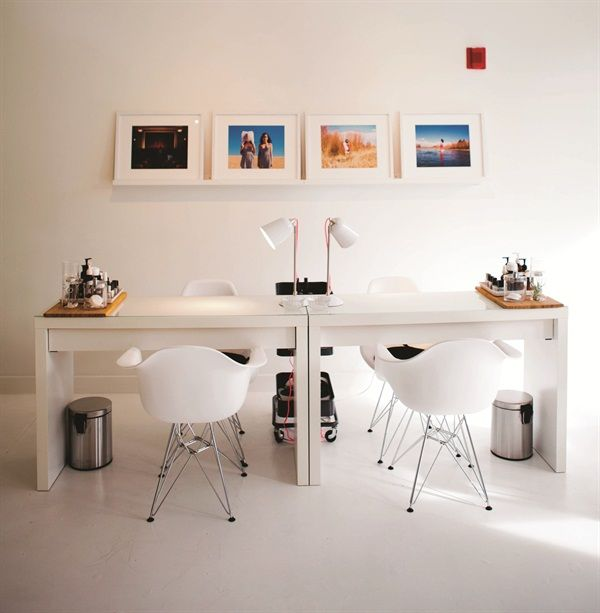 The salon maintains a gallery space for local female artists to display and sell their artwork. www.nailsmag.com