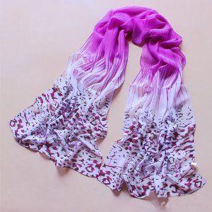 Change Women Fashion Leopard Pattern Colorful Shawl Scarf Wrap