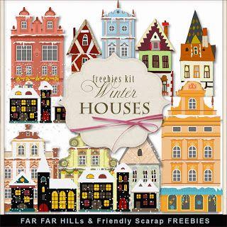 FAR FAR HILLS - New Freebies Kit - Winter Houses