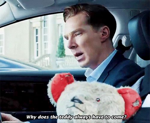 WHAAAT??? What is this from?! Loving the look he gives the teddy bear when it turns towards him though.