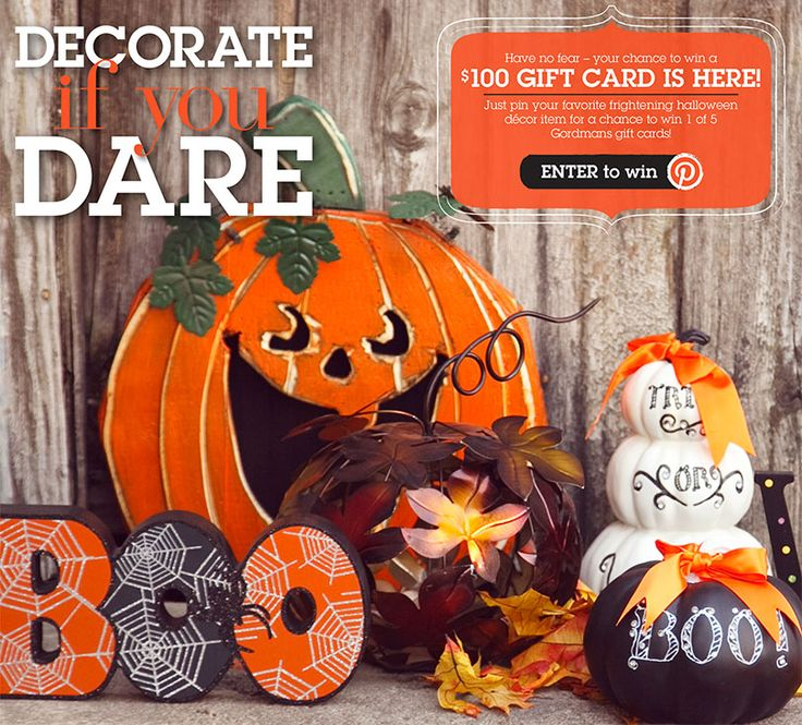 Halloween Home Decor Mantle Inspiration Enter to win a $100 Gift Card to Gordmans.com! No tricks, just treats! #DecorateIfYouDare