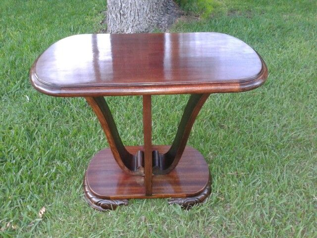 Art deco Coffee table in spanish oak and mahogany.