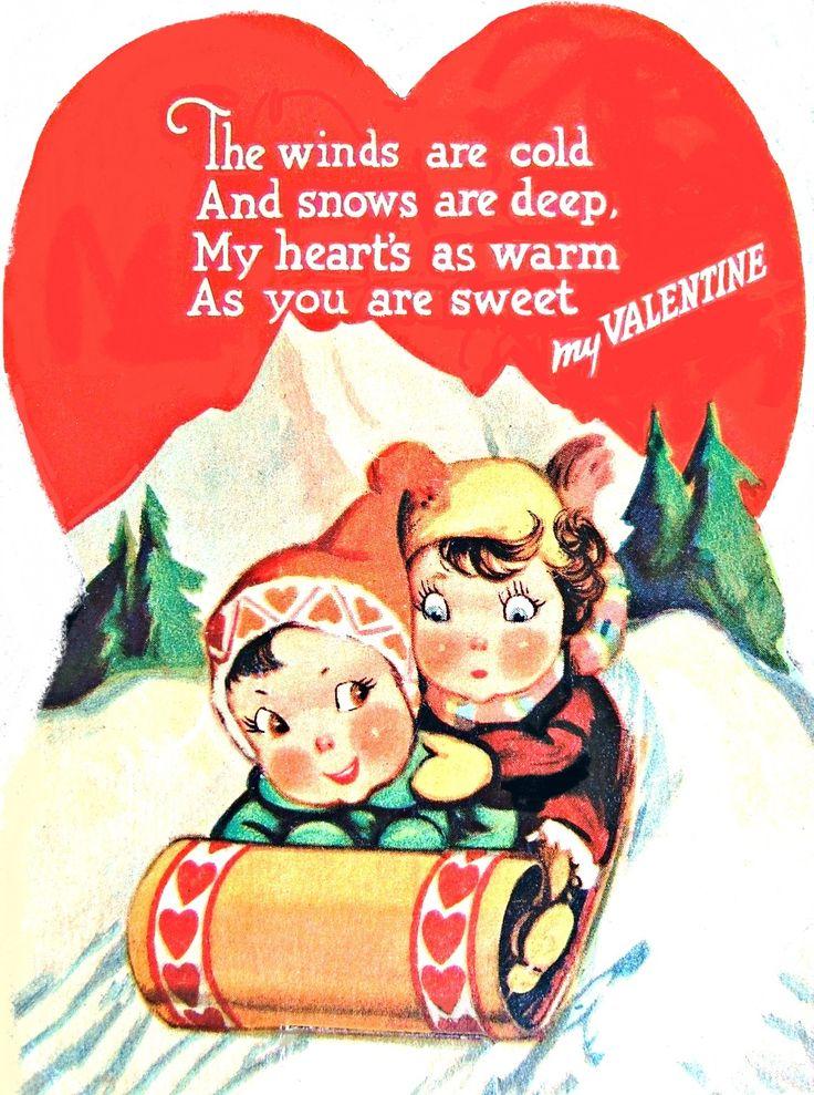 943 best VALENTINES CHILDREN VINTAGE images on Pinterest ...