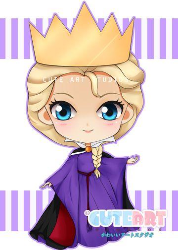 Elsa Evil Queen Chibi by crowndolls.deviantart.com on @deviantART
