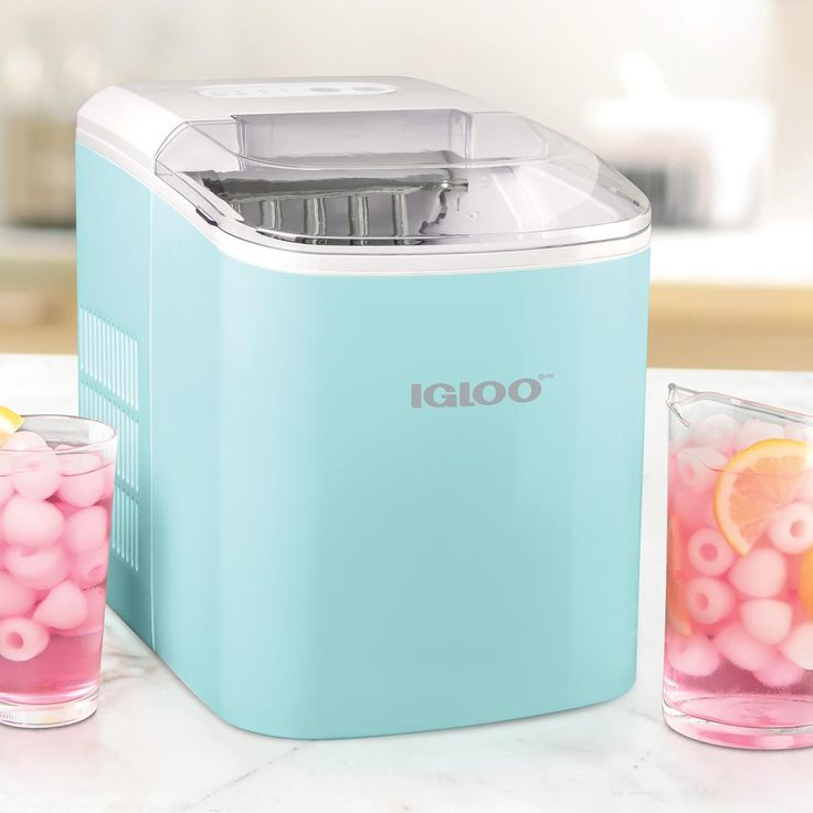 Igloo 26 lb portable ice maker in aquaiceb26aq the